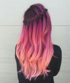 Colorful pink hairstyles (43)