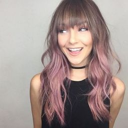 Colorful pink hairstyles (45)