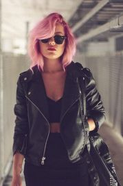 Colorful pink hairstyles (50)