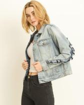 Denim jacket for women street style ideas (24)