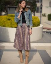 Denim jacket for women street style ideas (40)