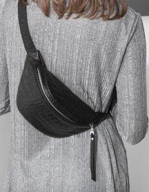 Daphnyraes.com The Fanny Pack Is Back! Get Yours Now At DAPHNY RAES. Handmade Out Of Black Smooth Italian Leather With A Croco Print. Best Companion For A Night Out, A Shopping Trip Or A Stroll Around The City. Fits All Your Essentials. Save It For Later!