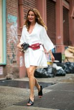 Fromluxewithlove.com : White Outfit - Fannypack Outfits Street Style Ideas