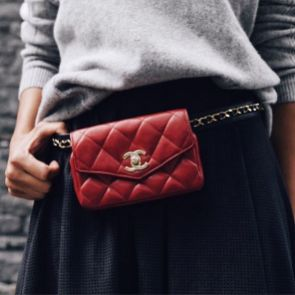 I'm All About The Belt Bags! How Cute Is This Vintage Chanel From @lovethatbagca