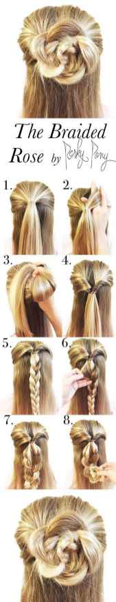 Hairstyles diy and tutorial for all hair lengths 020 | fashion