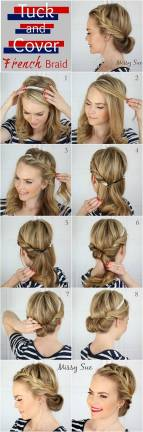 Hairstyles diy and tutorial for all hair lengths 022 | fashion