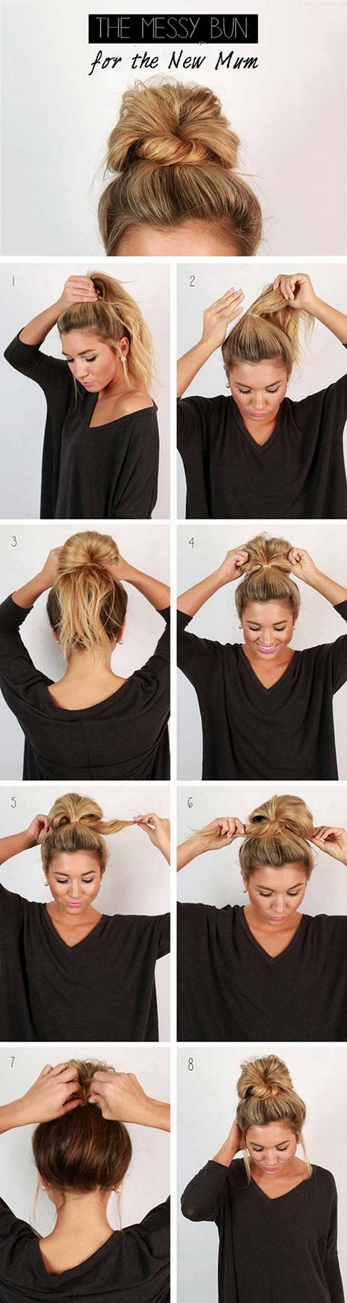Hairstyles diy and tutorial for all hair lengths 026 | fashion