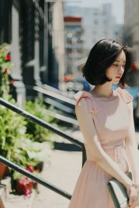 Pink sleeve dress idea for daily action 11 fashion
