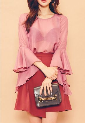 Pink sleeve dress idea for daily action 13 fashion