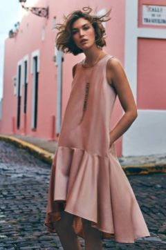 Pink sleeve dress idea for daily action 38 fashion