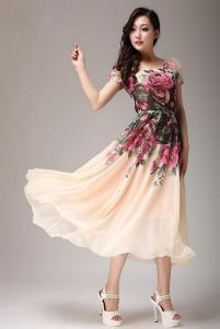 Pink sleeve dress idea for daily action 48 fashion
