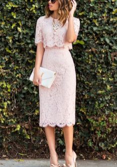 Pink sleeve dress idea for daily action 58 fashion