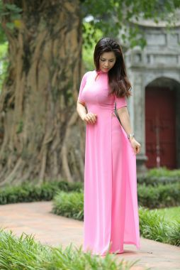 Pink sleeve dress idea for daily action 60 fashion