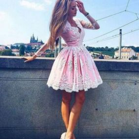Pink sleeve dress idea for daily action 63 fashion