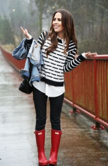 Rainy day cold weather outfit (15)