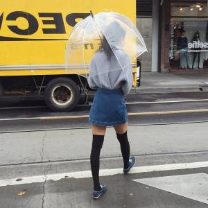 Rainy day cold weather outfit (19)
