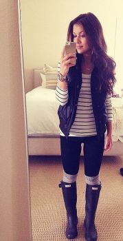 Rainy day cold weather outfit (4)