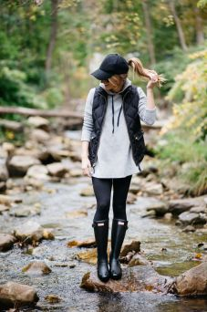 Rainy day cold weather outfit (45)