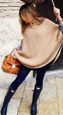 Rainy day cold weather outfit (5)