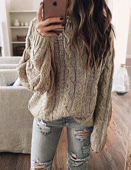 Sweaters outfit idea you should try this year (026) | fashion