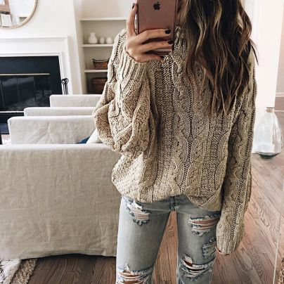 Sweaters outfit idea you should try this year (044) | fashion