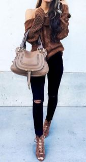 Sweaters outfit idea you should try this year (050) | fashion