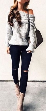 Sweaters outfit idea you should try this year (052)   fashion