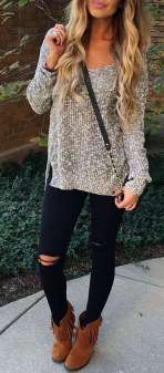 Sweaters outfit idea you should try this year (056) | fashion