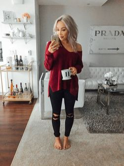 Sweaters outfit idea you should try this year (080) | fashion
