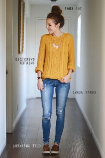 Sweaters outfit idea you should try this year (090)   fashion