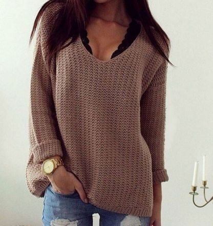 Sweaters outfit idea you should try this year (103) | fashion