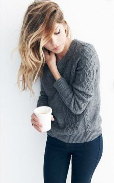Sweaters outfit idea you should try this year (120)   fashion