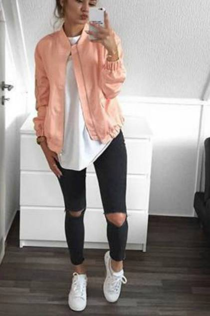 Women's white sneakers outfit 108