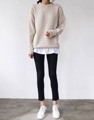 Women's white sneakers outfit 111