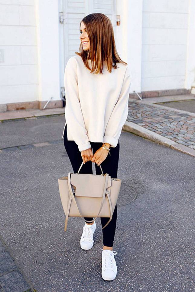 Women's white sneakers outfit 38