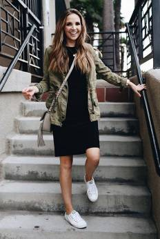 Women's white sneakers outfit 48