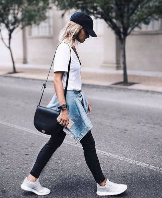 Women's white sneakers outfit 55