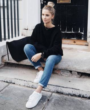 Women's white sneakers outfit 60
