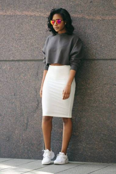 Women's white sneakers outfit 64