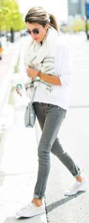 Women's white sneakers outfit 67