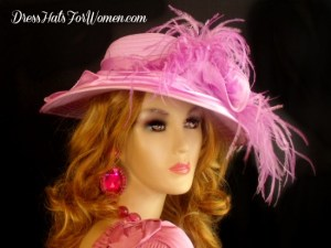 42afb3a8 ... Ladies Lavender Purple Wide Brim Kentucky Derby Hat, Women's Custom Hats  With Feathers, Designer; Women's White Satin Bridal ...