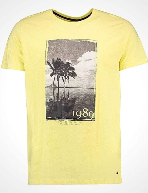 Мъжка тениска в жълто