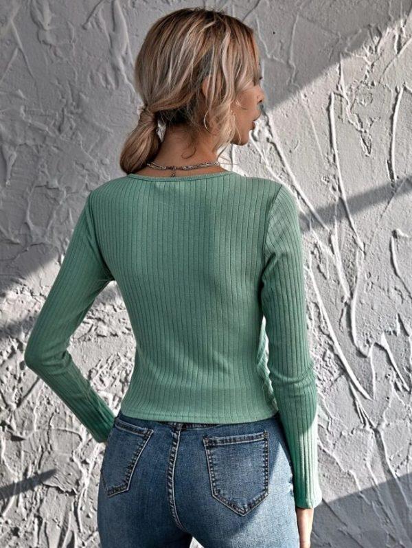 Дамска блуза в зелено