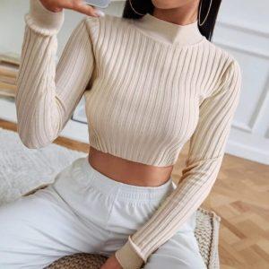 Елегантна къса блуза