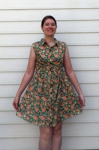 This is the dress with minor modifications. I fitted the bodice and added front and back darts.
