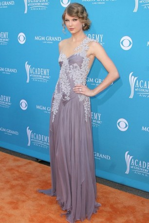 She wore a Marchesa gown to the Country Music Awards in Las Vegas.