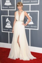 She wore a gown by Taylor Swift J. Mendel to the Grammy Awards.