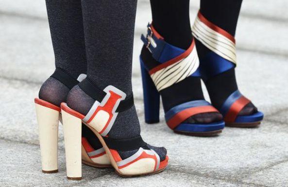 Tights-sandals