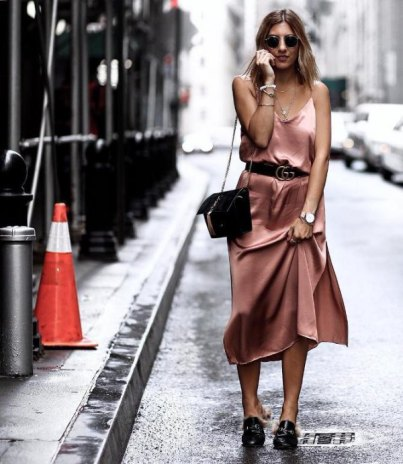 rose-gold-belted-midi-silk-dress