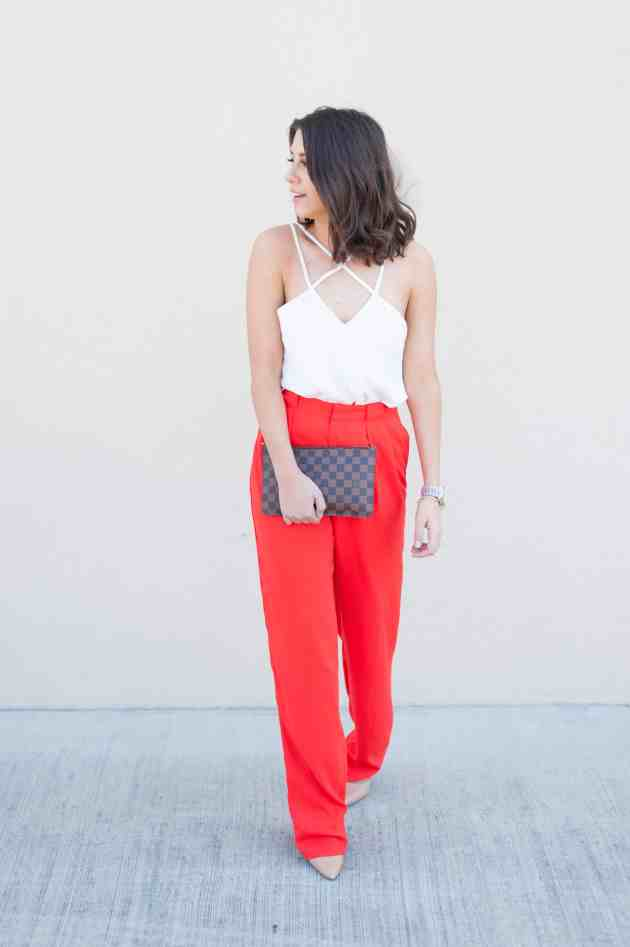 Dress Up Buttercup | Houston Fashion Blog - Dede Raad | Red Wide Leg